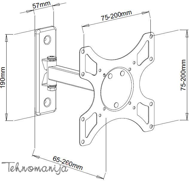 S Box nosač za televizor LCD 2901
