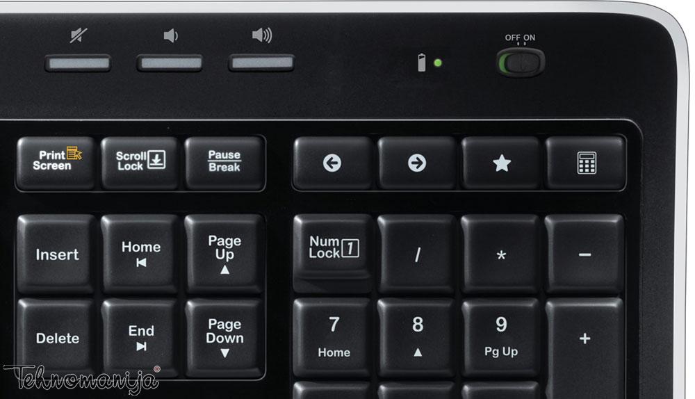 LOGITECH Bežična tastatura i miš MK 520 US