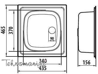 Metalac sudopera Quadro M068895