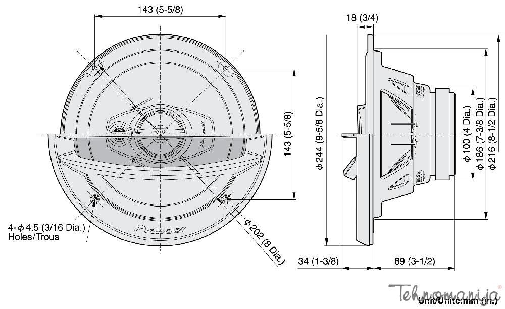 PIONEER Zvučnici za kola TS A2013I