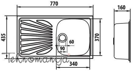Metalac sudopera Luna Flex 1D M 059892