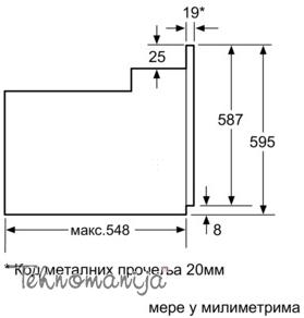 BOSCH Ugradna rerna HBA23B150R, Multifunkcionalna rerna