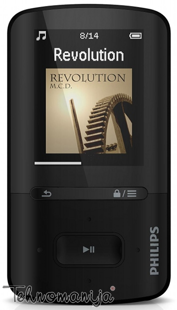 PHILIPS Mp3 plejer SA4VBE08KF 12, 8GB