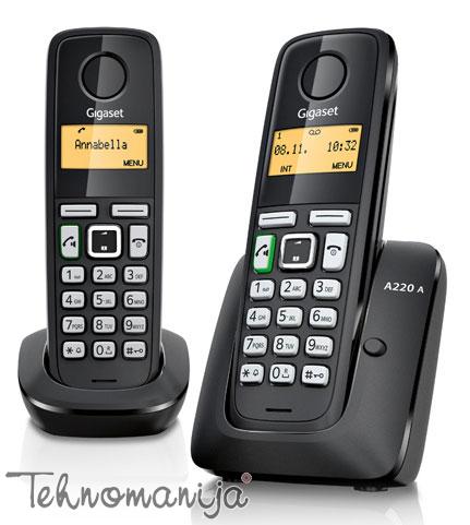 Gigaset bežični telefon A220A DUO