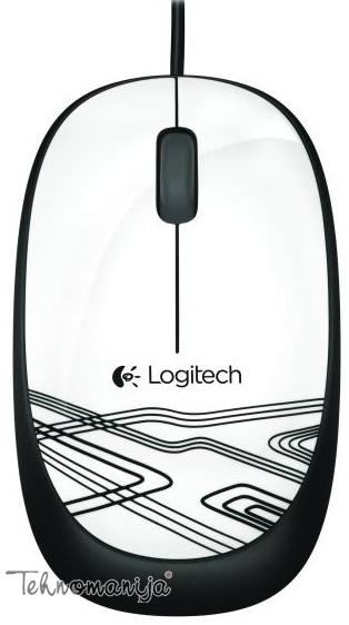 Logitech optički miš M105 WHITE