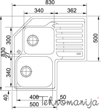 Franke sudopera STX 621-E 101.0001.045