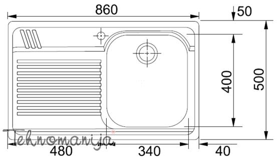Franke sudopera AMX 611 101.0022.376