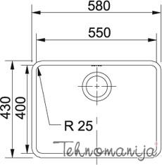 Franke sudopera KBX 110-55 122.0036.605