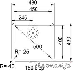 Franke sudopera KBX 110-45 122.0036.603