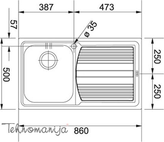 Franke sudopera LLX 611-L 101.0152.583