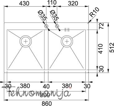 Franke sudopera PPX 220 TL 127.0198.194