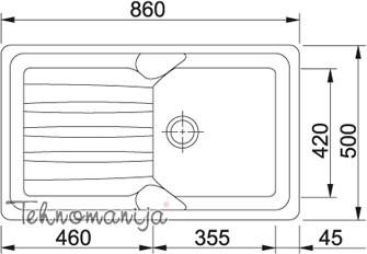 Franke sudopera COG 611 114.0027.033