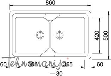 Franke sudopera COG 620 114.0060.585