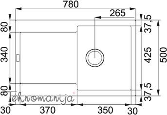 Franke sudopera MRG 611-A 114.0055.693