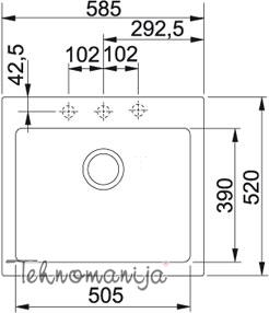 Franke sudopera MRG 610-58 114.0083.247