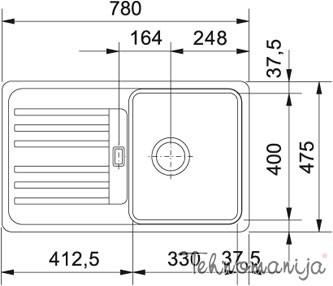 Franke sudopera EFG 614-78 114.0028.318