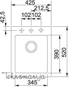 Franke sudopera MRG 610-42 114.0176.607