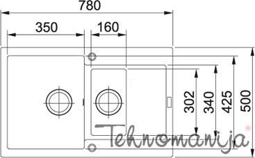 Franke sudopera MRG 651-78 114.0253.335