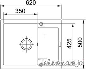 Franke sudopera MRG 611-62 114.0253.324