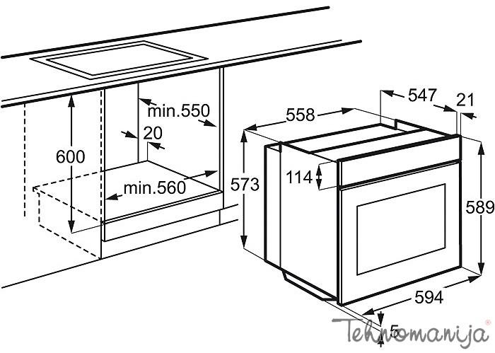 Electrolux ugradna rerna EOA 3400 AOX