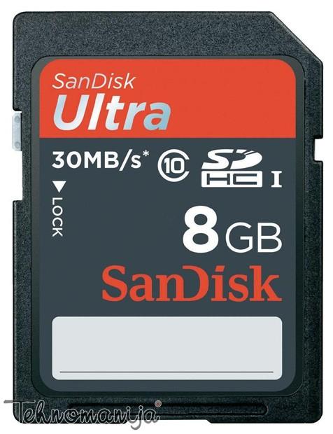 SANDISK Memorijska kartica SD 8GB ULTRA II 30
