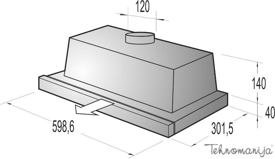 Gorenje ugradni aspirator DF6316XSC