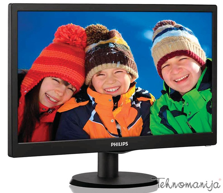 "PHILIPS Monitor 19"" 193V5LSB2 10, LED, 1366 x 768 HD Ready"