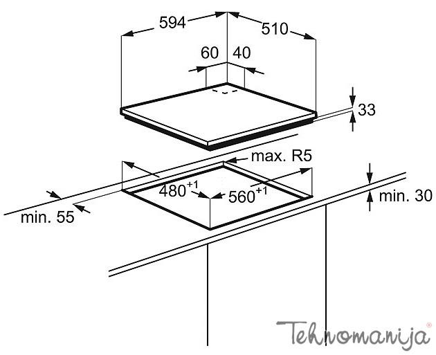 Electrolux ugradna ploča EGL 6282 NOX