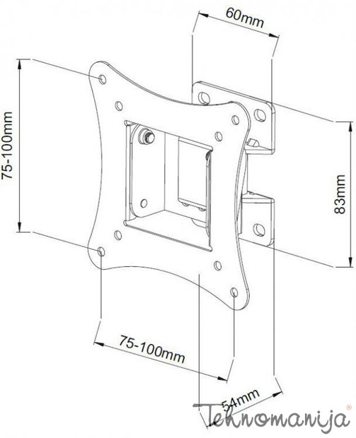 S Box nosač za televizor LCD 900 B