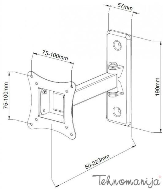 S Box nosač za televizor LCD 901 B