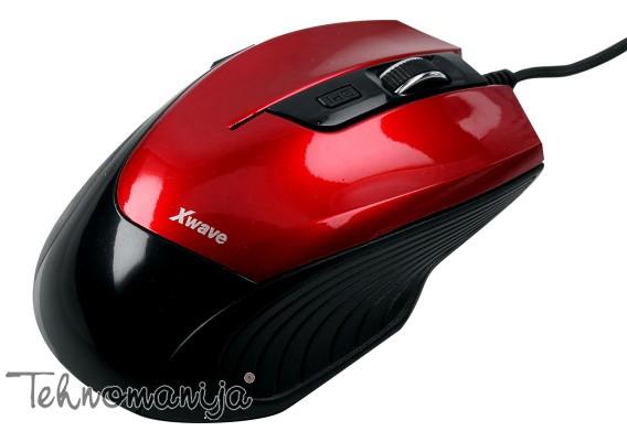 X WAVE Žični miš LM 5 RED