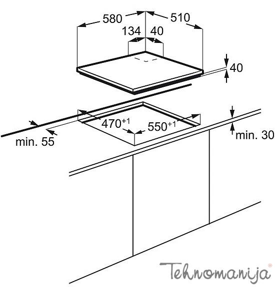 ELECTROLUX Ugradna ploča EGE 6182NOK