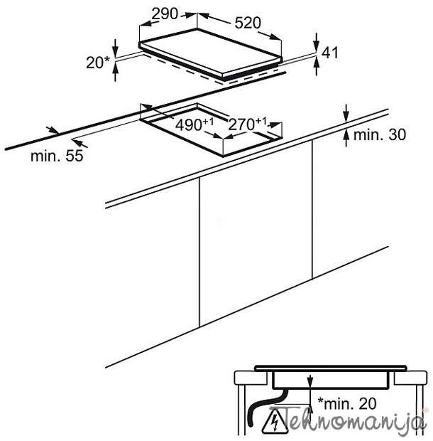 Electrolux ugradna ploča EHF 3920BOK