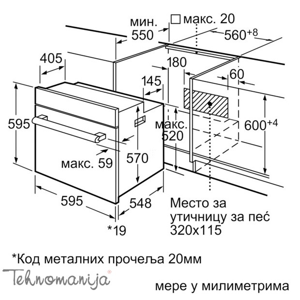 BOSCH Ugradna rerna HBN 331E4, Multifunkcionalna rerna