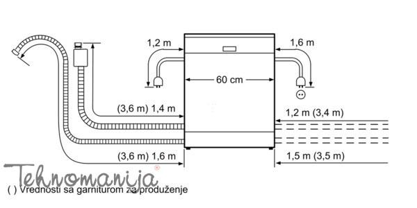 Bosch ugradna sudomašina SMV 40D50EU