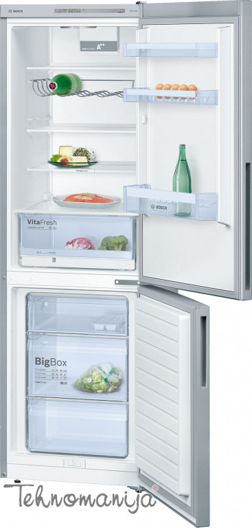 BOSCH Kombinovani frižider KGV 36VL32S, Low Frost