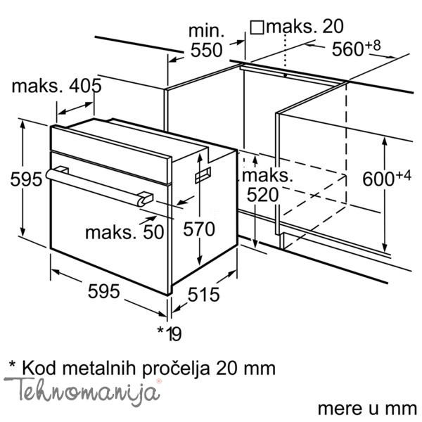 Siemens ugradna rerna HB 43GS540