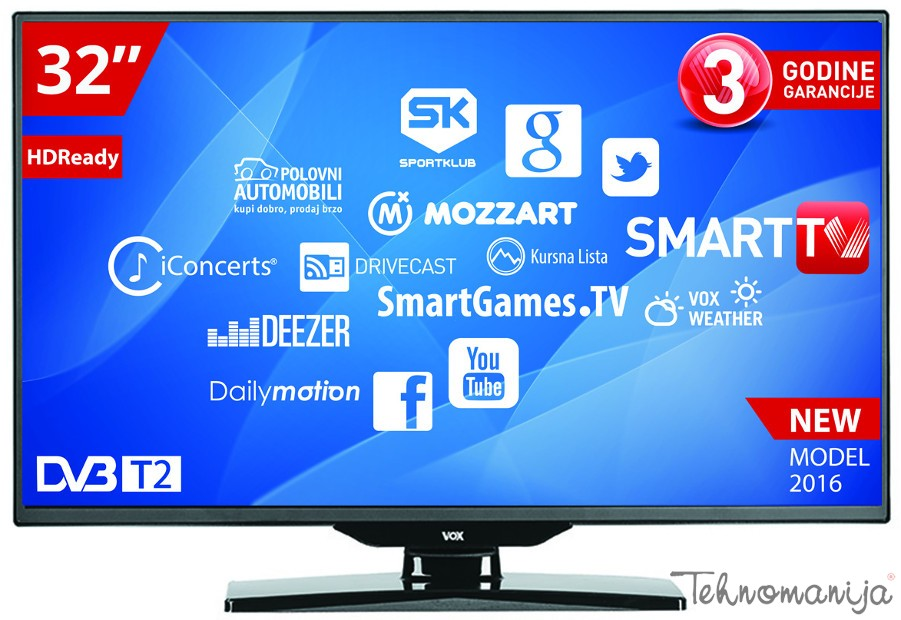 "VOX Smart Televizor LED 32 SNBT2 900, LED, 32"" (81 cm)"
