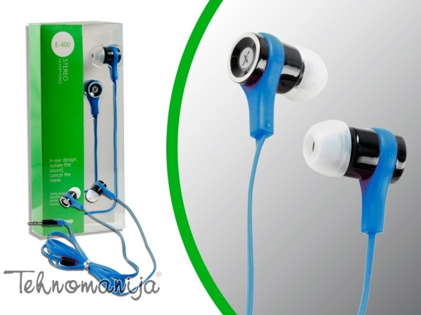 X Wave slušalice E 400 BLUE