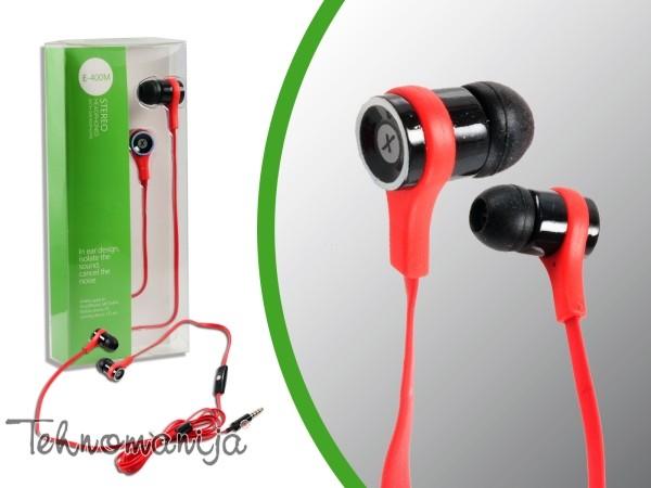 X WAVE Slušalice E 400M RED