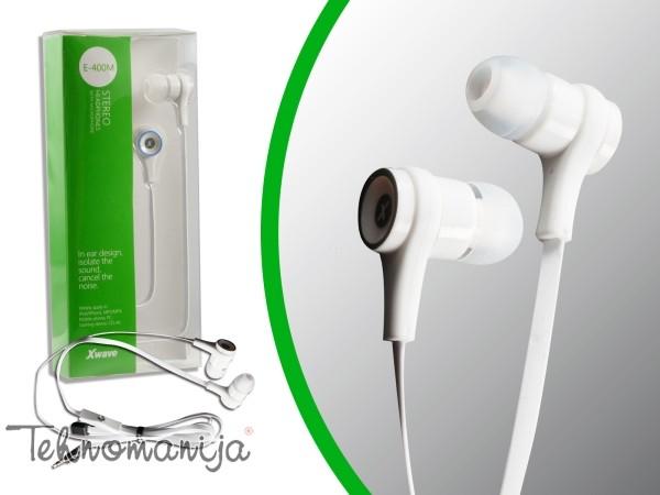 X WAVE Slušalice E 400M WHITE