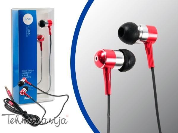 X WAVE Slušalice E 500 RED