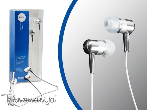 X WAVE Slušalice E 500 WHITE