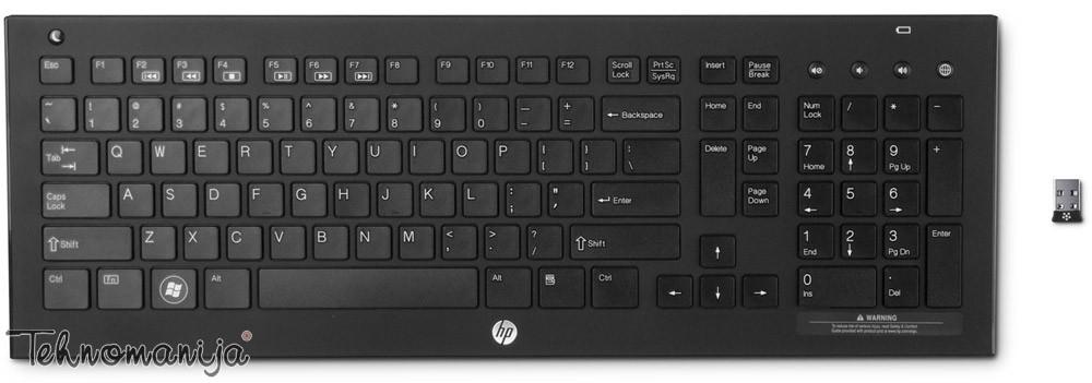 Hewlett-Packard bežična tastatura QB467AA