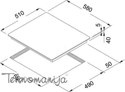 Franke ugradna ploča FHC 604 4C TBP WH