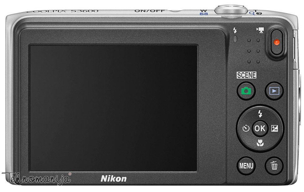 Nikon fotoaparat Coolpix S3600 SREBRNI