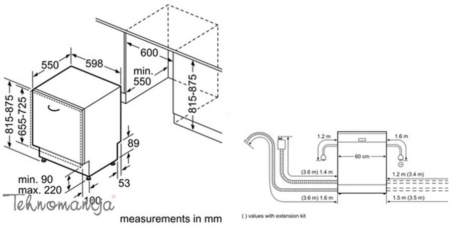 Siemens ugradna sudomašina SN 65L082EU