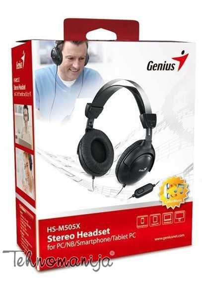 Genius slušalice sa mikrofonom HS-M505X