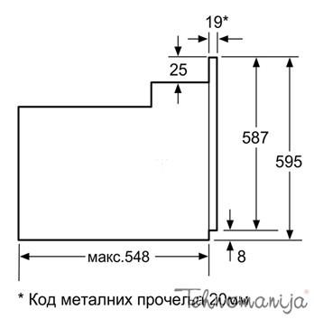 BOSCH ugradna rerna HBN 211E4, Multifunkcionalna rerna