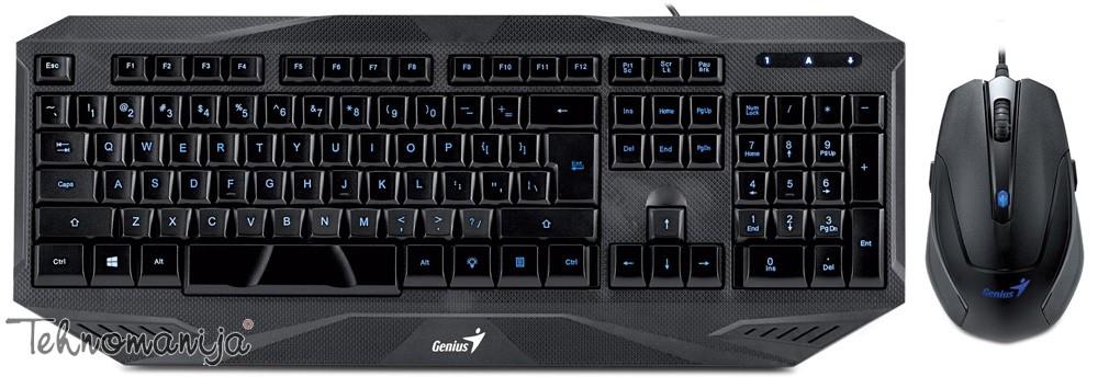 GENIUS Tastatura sa mišem KM-G230 BLK SER